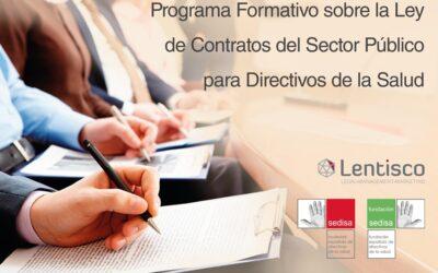 Programa Formativo SEDISA-LENTISCO sobre la Ley de Contratos del Sector Público para Directivos de la Salud