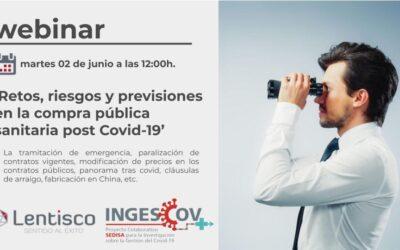 Webinar 'Retos, riesgos y previsiones en la compra pública sanitaria post Covid-19'
